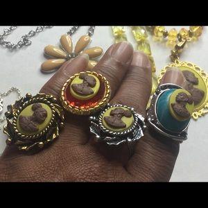 Cameo rings